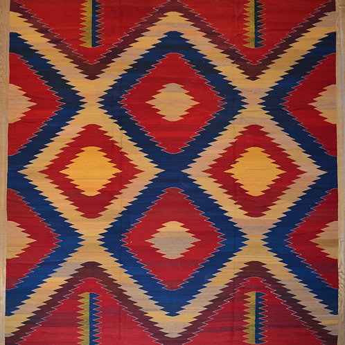 """Rug - Storm in Red - 120"""" X 144"""""""