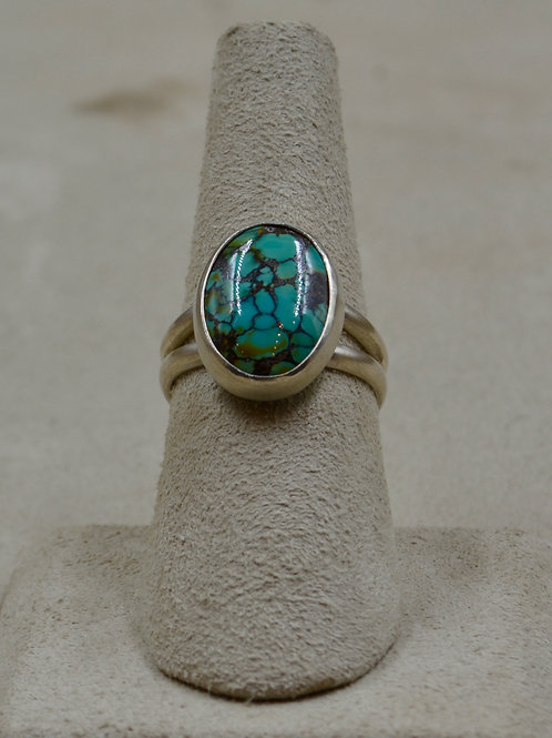 Natural Chinese Turquoise & Sterling Silver 6.25x Ring by Joe Glover