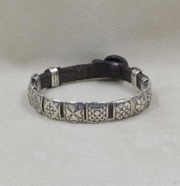 Sterling Silver 12-Concho Bracelet by Rick Montano