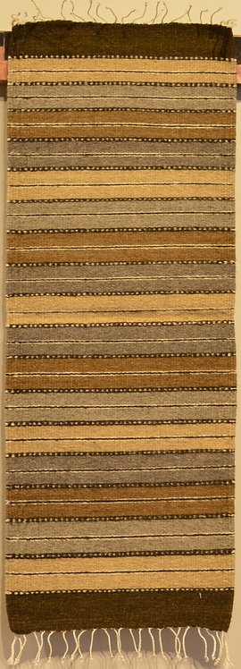 "Table Runner with Brown Stripes - 15"" X 40"""