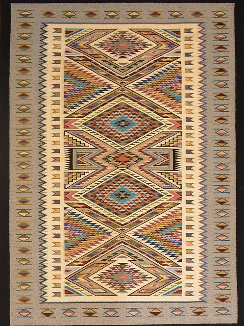 """Bessie Littleben Teec Nos Pos Navajo Weaving - 58"""" X 41"""""""