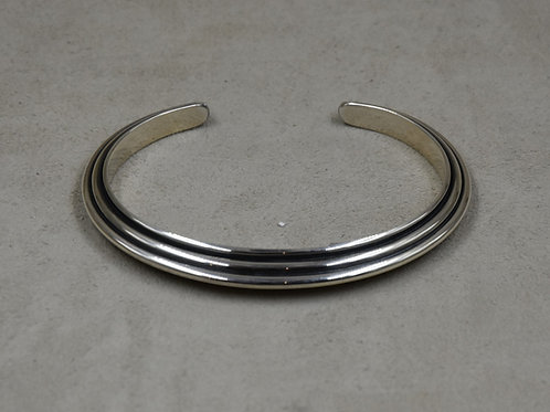 Pyramid 6x, 3 Wire, Sterling Silver Cuff by Steve Taylor