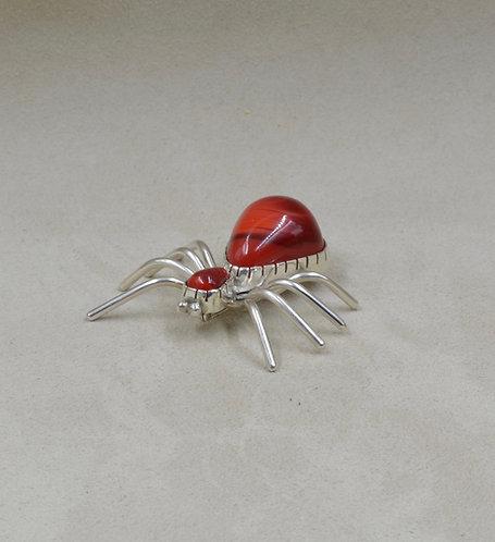 Rosarita & Sterling Silver Spider Pin by Dukepoo