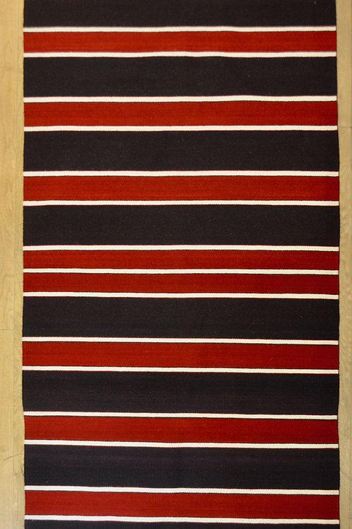"Cenefas Azul/Rojo Large 4'-3"" x 6' - 6"" Rug by Sergio Martinez - Zapotec"