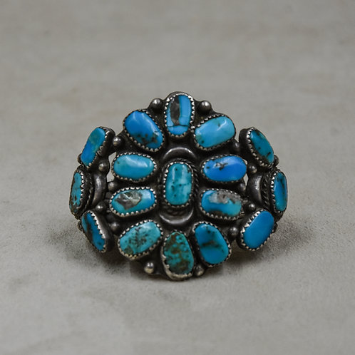 Vintage 40's 17 Stone Turquoise Child's Cuff from the Dean Stockwell Collection