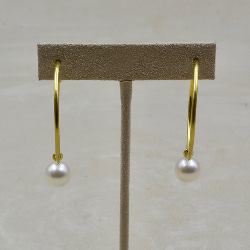 22k Gold and Pearl Earrings by Pamela Farland
