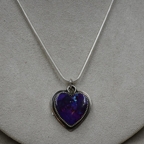 Mojave Turquoise Heart Pendant by John Rippel