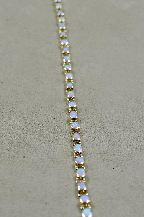 Lab Opal Tiny Multi-Shaped Tennis Bracelet by Peyote Bird