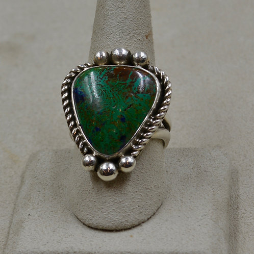 Azurite & Sterling Silver 11x Ring by Cheryl Arviso