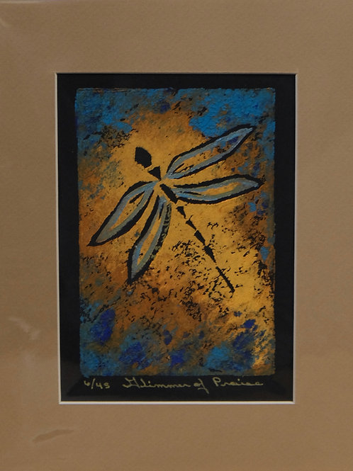 """""""Glimmer of Praise"""" 6/45 Hand-Pulled Block Print by Sandy Swallow"""