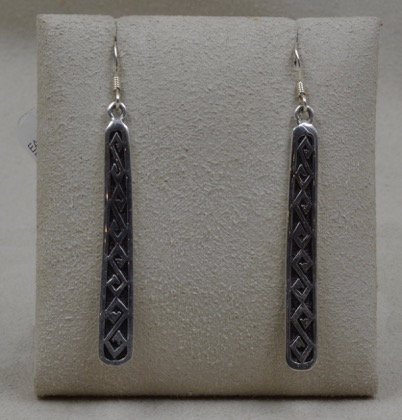 Sterling Silver Asymetrical Dancing Stick Earrings by Michael & Melanie Lente