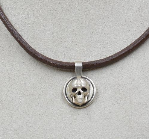 Sterling Silver Skull Pendant by Joe Glover