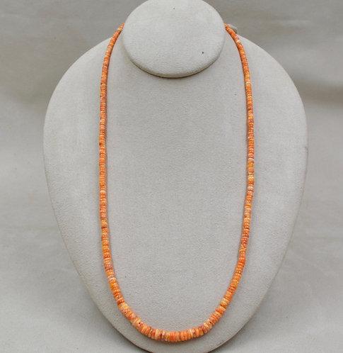 Strand Hi Grade Light Orange Spiny Oyster Necklace by Maggie Moser