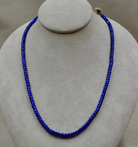 1 Strand Royal Lapis & Olive Shell Necklace by Kenneth Aguilar