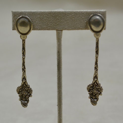All Sterling Silver 4 O'Clock Post Earrings by Jerry Faires