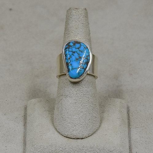 Hi-Grade Tyrone Turquoise 6.5x Ring from True West/John Paul Rangel