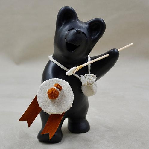 Medium Black Bear Scout w/ Shield & Spear by Randy Chitto