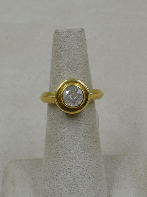 22k/20k Gold w/ Round Icy Diamond 1.30Cts 6.25x Ring by Pamela Farland