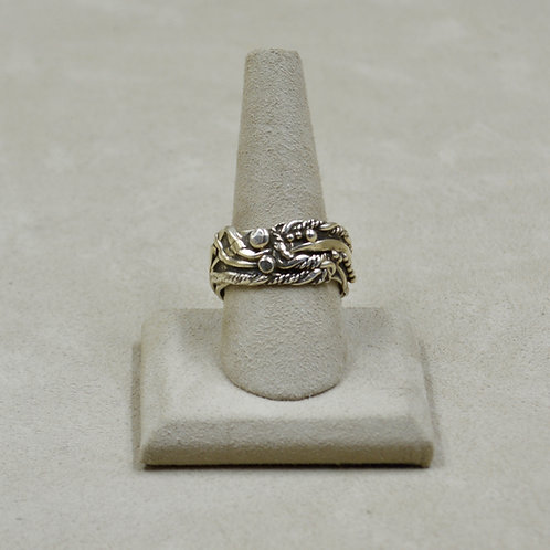 Arroyo Seco All Silver Hand-Forged 12x Ring by Robert Mac Eustace Jones