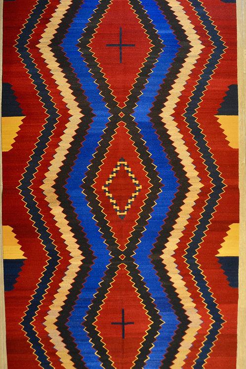 "Extra Large Navajo Style 7'-3"" x 10'-10"" Weaving, by Sergio Martinez - Zapotec"
