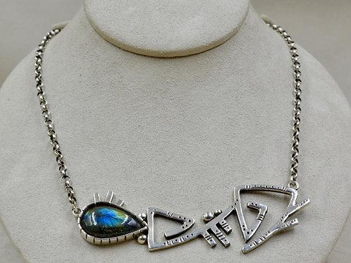 Hopi Picasso Necklace w/ Labradorite by Jacqueline Gala