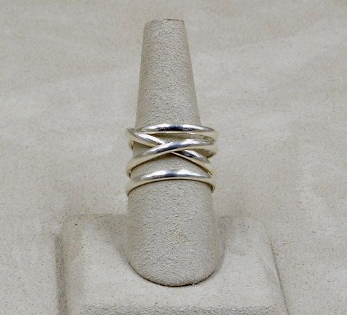 Wrap Around Sterling Silver 9x Ring by Roulette 18