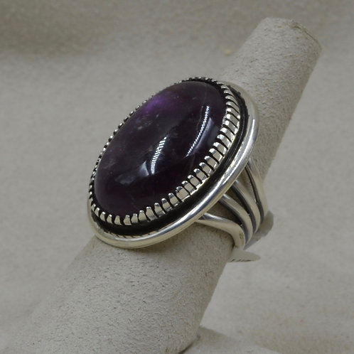 Sterling Silver with Sodalite 6.75X Ring by Marian Nez
