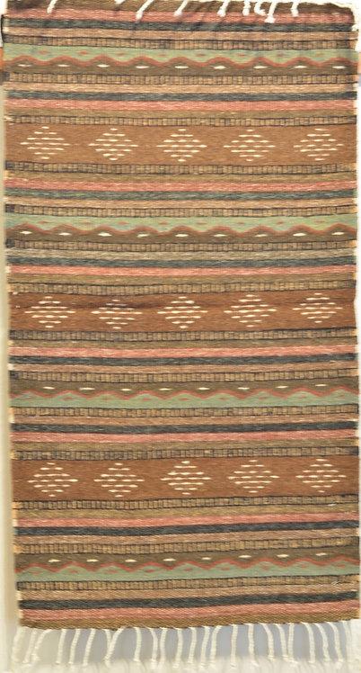 "Brown Montano Zapotec 24"" X 36"" Weaving"