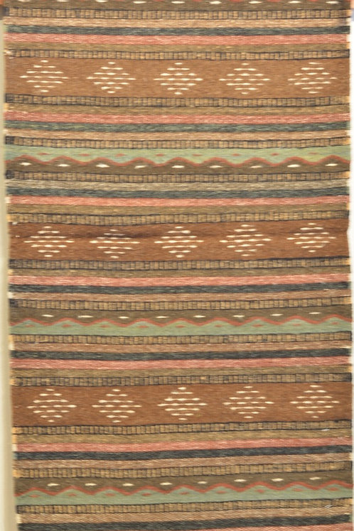"Brown Montano Zapotec 24"" X 36"" Weaving"
