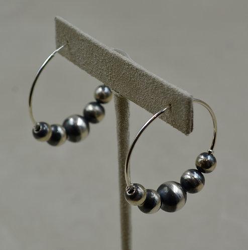 Medium Assorted Beads Hoop Earrings by Shoofly 505