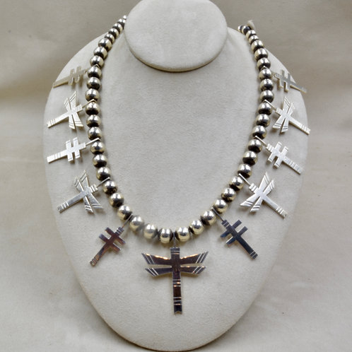 All Handmade Dragonfly Sterling Silver Squash Necklace by John Paul Rangel