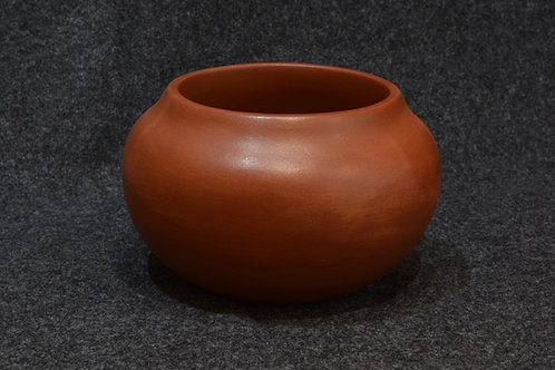 Earth Red Matte Finish Bowl by Irene Tse Pe, San Ildefonso Pueblo