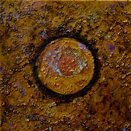 """Ceremonial Sun Series"" - Ac/Mixed on Canvas - 10"" x 10"" - by Doug Coffin"