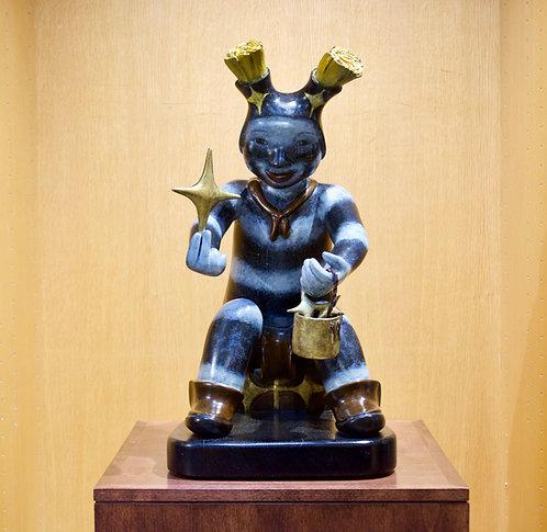"""""""Koshare Stars""""  Bronze Sculpture by Kathleen Wall, Jemez Pueblo"""