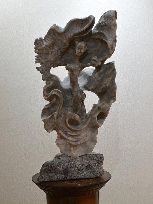 """Ole"" - Alabaster Sculpture - by Carlo Martinez"