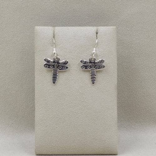 Sterling Silver Baby Dragonfly Earrings by Richard Lindsay