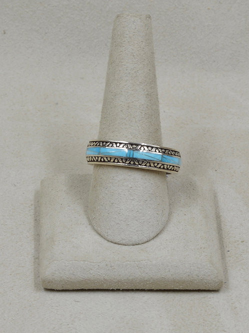 Sleeping Beauty Turquoise & Sterling Silver 12x Ring by GL Miller Studio