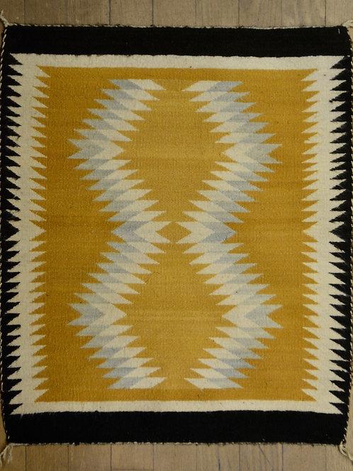"Two Grey Hills Navajo Weaving - 39"" x 27"""