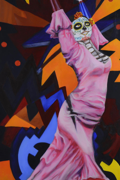 """Flamenco Fantasmos"" - Oil on Canvas - 48"" x 24"" - by Carlo Martinez"