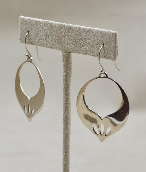 Sterling Silver 3 Cut Leaves Earrings by Roulette 18