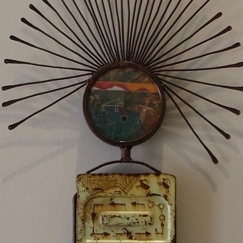"""""""Story Totem - Reflection"""" Sculpture - 56"""" x 13"""" x 2"""" by Chris Turri"""