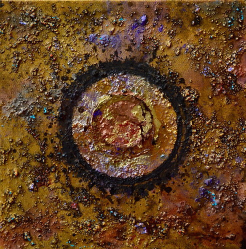 """""""Ceremonial Sun Series"""" - Ac/Mixed on Canvas - 10"""" x 10"""" - by Doug Coffin"""
