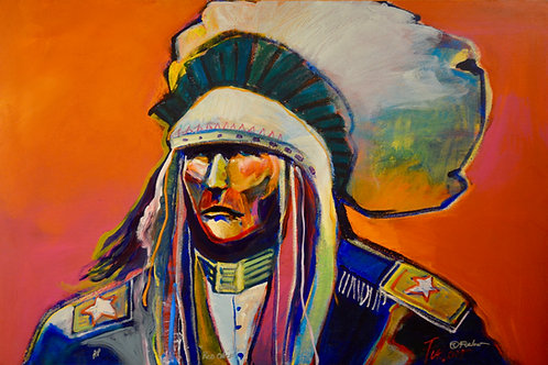 """""""Red Chief"""" Ltd Edition Enhanced Giclee 45"""" x 30"""" by Malcolm Furlow"""