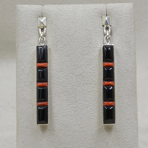 Large Skinny Cobble Post Sterling Silver Earrings by Veronica Benally