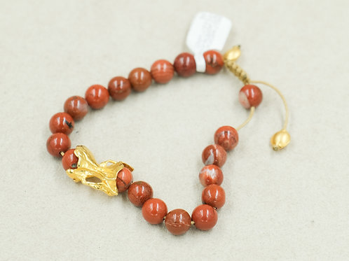 22k w/ Red Jasper, & Vermeil Meditation Bracelet by True West