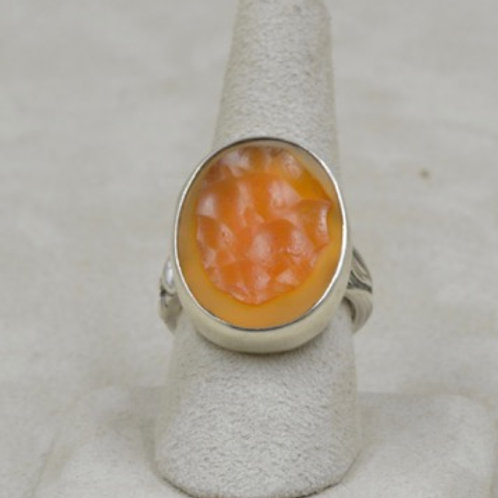 Botroidal Carnelian 15+CT & Sterling Silver 8.5X Ring by Jerry Faires