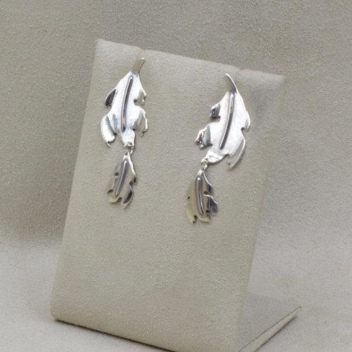 Sterling Silver Oak Leaf Earrings by Richard Lindsay
