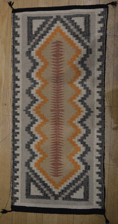 "Vintage Navajo Weaving - California 1970's - 43 1/2"" x 19 1/2"""
