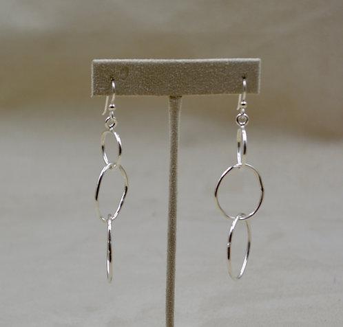 Sterling Silver 3 Hoop Earrings by Jacqueline Gala