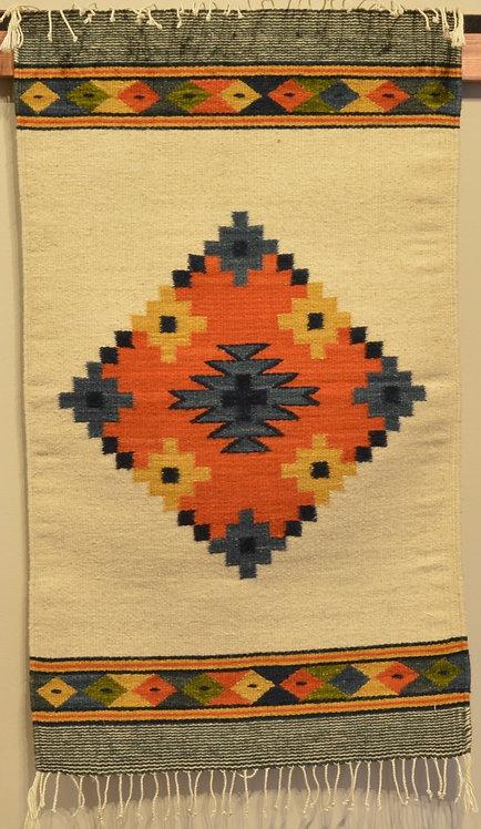 "Zapotec Center Geometry Rug - 36"" X 24"""